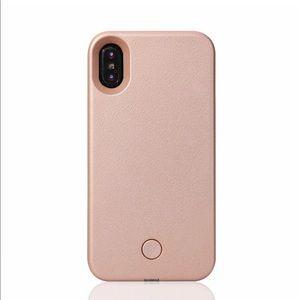iPhone 8 Plus Rose Gold Selfie Light Phone Case